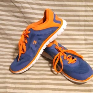 2/30$ Blue and orange sneakers